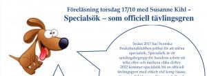 Specialsöksföreläsning med Susanne Kihl! @ Lidköpings Brukshundklubb